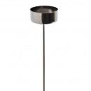 Metal tealight holder, diameter 40mm, length 25c